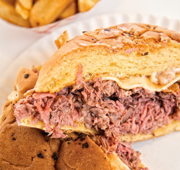 At Jillie's Family Restaurant, regulars come for the consistent quality and warm service. Familial and friendly, owners Lisa and Angelo Koukos, along with employee Ryan Bettencourt, keep the roast beef sandwiches they serve true to those enjoyed by multiple generations of Lowellians. Meltingly soft beef sits on a fresh, grilled onion roll.
