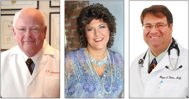 Left: Dr. Thomas F. Johnson New England Allergy, Asthma & Immunology. Center: Dr. Holly Rocco Advanced Allergy Center. Right: Dr. Bryan D. Stone Pentucket Medical.