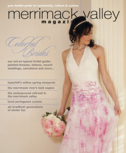 Painted dresses were featured on the cover of our 2102 bridal issue.