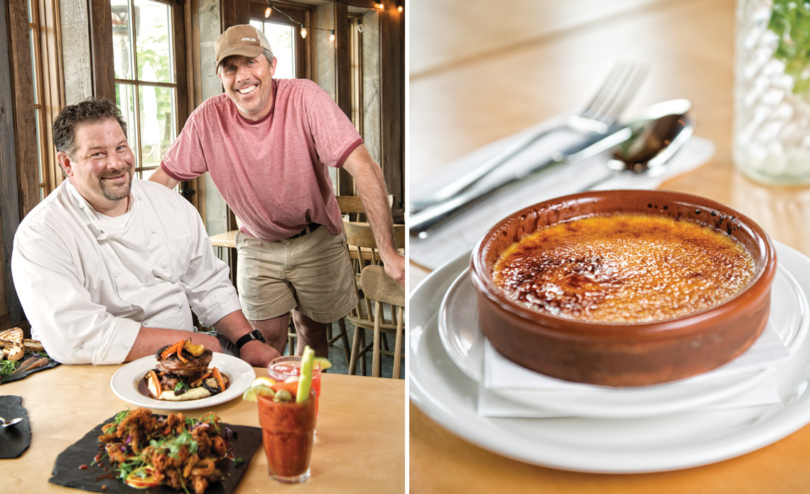 Chef Derek Clough (left) and owner Tom Wagner (right) are the creative team behind the Applecrest Farm Bistro. The Creamsicle creme brulee is one of many reason to visit. Photos by Kevin Harkins.