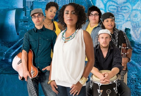 Pictured: Taini Asili y la Banda Rebelde combine Afro-Latin, reggae and rock.