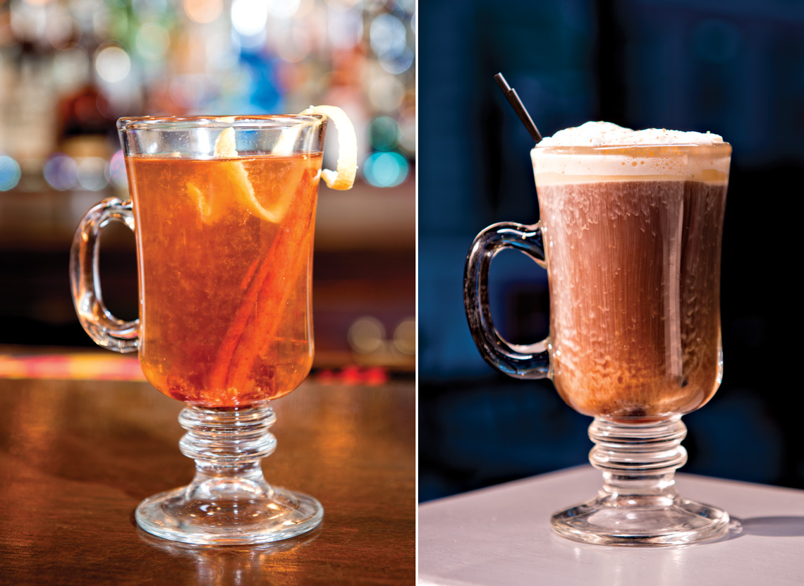 Left: The Black Jack Honey. Right: The Dirty Chai. Photos by Kevin Harkins.