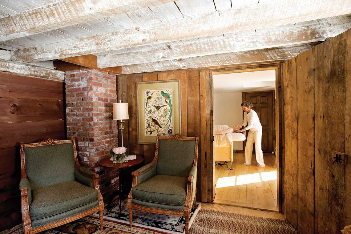Located on the main floor of the White Barn, Windham Hill's spa is a great place for a relaxing massage after a day of cross country skiing or hiking.