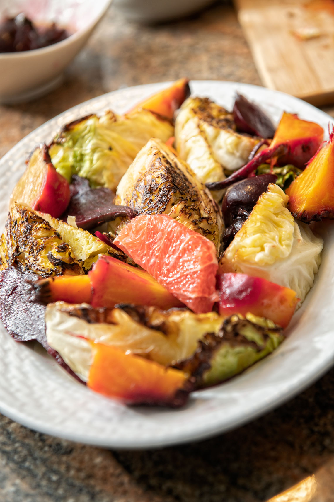 Pan-Roasted Cabbage and Beet Salad