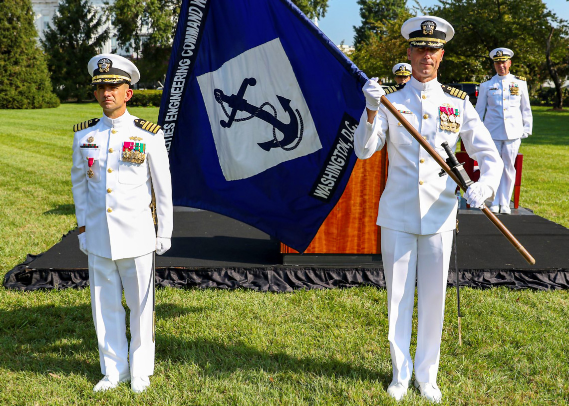 Captain Hawn and Capt Vinci of Naval Facilities Engineering Systems Command (NAVFAC)